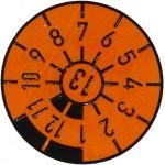 TÜV-Plakette-orange